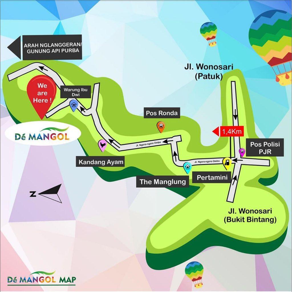 rute menuju de mangol patuk