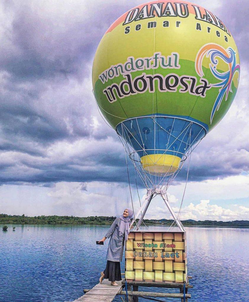 spot foto wisata danau laet tayan