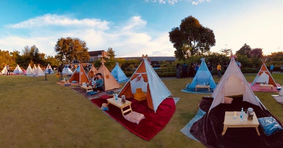 lokasi tenda dibawah bintang